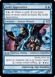 Magic the Gathering Champions of Kamigawa Single Card Rare #70 Jushi Apprentice // Tomoya the Revealer