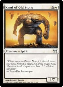 Magic the Gathering Champions of Kamigawa Single Card Uncommon #22 Kami of Old Stone