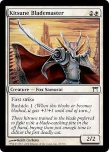 Magic the Gathering Champions of Kamigawa Single Card Common #25 Kitsune Blademaster