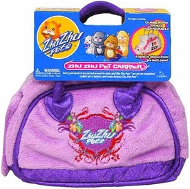 Zhu Zhu Pets Accessory Deluxe Pet Carrier Purple with Zhu Zhu Logo