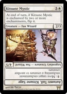 Magic the Gathering Champions of Kamigawa Single Card Rare #28 Kitsune Mystic // Autumn-Tail, Kitsune Sage