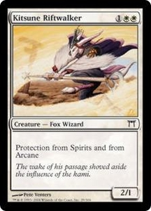 Magic the Gathering Champions of Kamigawa Single Card Common #29 Kitsune Riftwalker