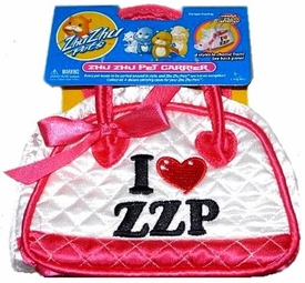 Zhu Zhu Pets Accessory Deluxe Pet Carrier White I [Heart] ZZP