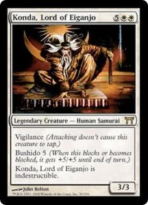 Magic the Gathering Champions of Kamigawa Single Card Rare #30 Konda, Lord of Eiganjo
