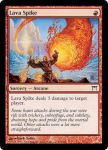 Magic the Gathering Champions of Kamigawa Single Card Common #178 Lava Spike