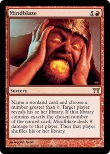 Magic the Gathering Champions of Kamigawa Single Card Rare #180 Mindblaze
