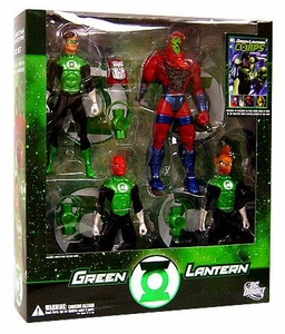 DC Direct Green Lantern Action Figure 4-Pack Boxed Set With Comic Book