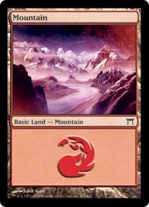 Magic the Gathering Champions of Kamigawa Single Card Land #299 Mountain [Random Artwork]