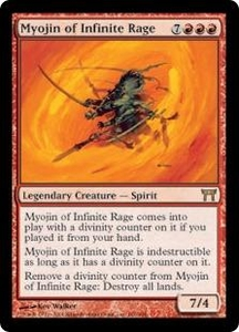 Magic the Gathering Champions of Kamigawa Single Card Rare #181 Myojin of Infinite Rage