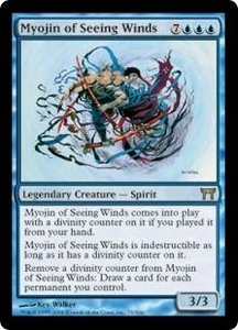 Magic the Gathering Champions of Kamigawa Single Card Rare #75 Myojin of Seeing Winds