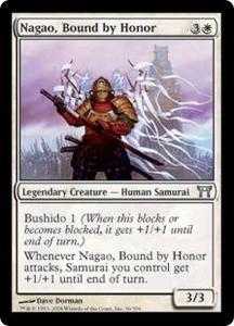 Magic the Gathering Champions of Kamigawa Single Card Uncommon #36 Nagao, Bound by Honor
