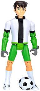 Ben 10 LOOSE 4 Inch Action Figure Ben 10 in Soccer Uniform with Ball