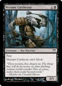 Magic the Gathering Champions of Kamigawa Single Card Common #128 Nezumi Cutthroat