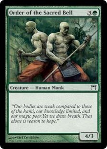 Magic the Gathering Champions of Kamigawa Single Card Common #232 Order of the Sacred Bell