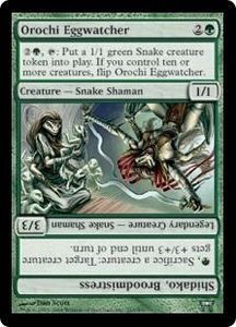Magic the Gathering Champions of Kamigawa Single Card Uncommon #233 Orochi Eggwatcher // Shidako, Broodmistress