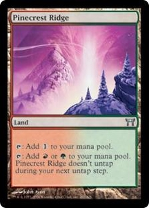 Magic the Gathering Champions of Kamigawa Single Card Uncommon #281 Pinecrest Ridge