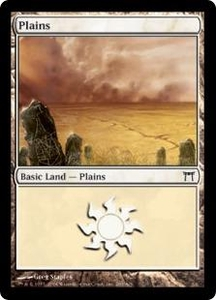 Magic the Gathering Champions of Kamigawa Single Card Land #287 Plains [Random Artwork]