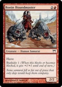 Magic the Gathering Champions of Kamigawa Single Card Common #184 Ronin Houndmaster