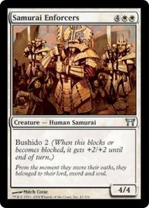 Magic the Gathering Champions of Kamigawa Single Card Uncommon #42 Samurai Enforcers