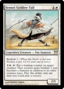 Magic the Gathering Champions of Kamigawa Single Card Rare #44 Sensei Golden-Tail