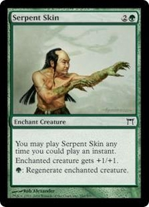 Magic the Gathering Champions of Kamigawa Single Card Common #240 Serpent Skin
