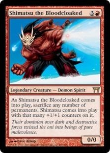Magic the Gathering Champions of Kamigawa Single Card Rare #186 Shimatsu the Bloodcloaked