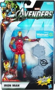 Marvel Legends Avengers Movie Exclusive 6 Inch Action Figure Iron Man [Includes Collector's Base]