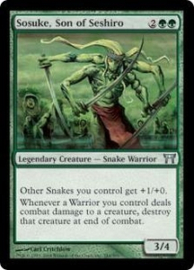 Magic the Gathering Champions of Kamigawa Single Card Uncommon #244 Sosuke, Son of Seshiro