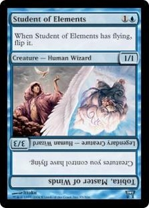 Magic the Gathering Champions of Kamigawa Single Card Uncommon #93 Student of Elements // Tobita, Master of Winds