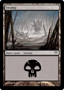 Magic the Gathering Champions of Kamigawa Single Card Land #295 Swamp [Random Artwork]