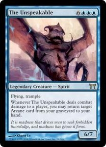 Magic the Gathering Champions of Kamigawa Single Card Rare #98 The Unspeakable