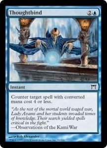 Magic the Gathering Champions of Kamigawa Single Card Common #96 Thoughtbind