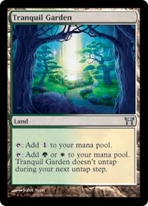 Magic the Gathering Champions of Kamigawa Single Card Uncommon #284 Tranquil Garden