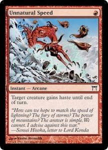 Magic the Gathering Champions of Kamigawa Single Card Common #197 Unnatural Speed