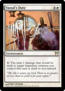 Magic the Gathering Champions of Kamigawa Single Card Rare #48 Vassal's Duty