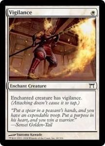 Magic the Gathering Champions of Kamigawa Single Card Common #49 Vigilance