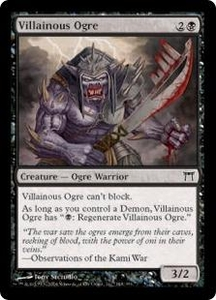 Magic the Gathering Champions of Kamigawa Single Card Common #148 Villainous Ogre