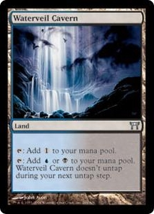 Magic the Gathering Champions of Kamigawa Single Card Uncommon #286 Waterveil Cavern