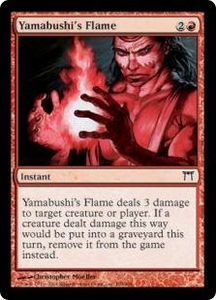 Magic the Gathering Champions of Kamigawa Single Card Common #198 Yamabushi's Flame