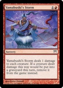 Magic the Gathering Champions of Kamigawa Single Card Common #199 Yamabushi's Storm