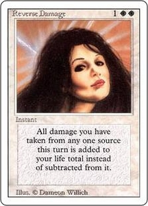 Magic the Gathering Revised Edition Single Card Rare Reverse Damage
