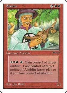 Magic the Gathering Chronicles Single Card Uncommon Aladdin Played Condition Not Mint