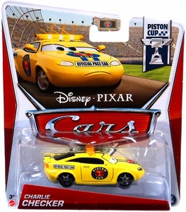 Disney / Pixar CARS Movie 1:55 Die Cast Car Charlie Checker [Piston Cup 12/18]