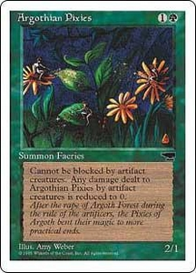 Magic the Gathering Chronicles Single Card Common Argothian Pixies