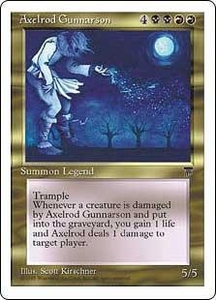 Magic the Gathering Chronicles Single Card Rare Axelrod Gunnarson