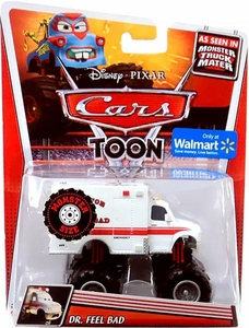 Disney / Pixar CARS TOON Exclusive 1:55 Die Cast Car Monster Size Vehicle Dr. Feel Bad [WHITE Package]