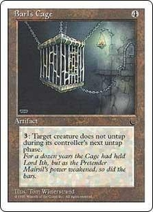 Magic the Gathering Chronicles Single Card Rare Barl's Cage