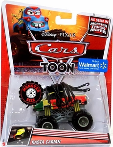 Disney / Pixar CARS TOON Exclusive 1:55 Die Cast Car Monster Size Vehicle Rasta Carian