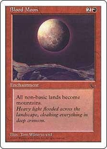 Magic the Gathering Chronicles Single Card Rare Blood Moon