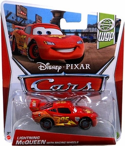 Disney / Pixar CARS Movie 1:55 Die Cast Car Lightning McQueen with Racing Wheels [WGP 1/17]